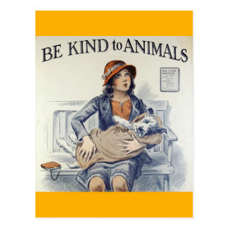 Vriendelijk ben aan het briefkaart van Dieren