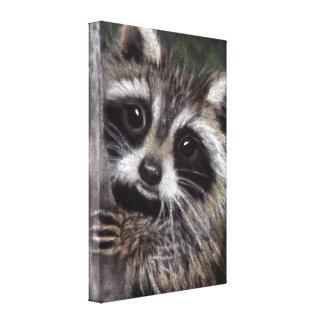 Vrienden? De Druk van het Canvas van de wasbeer