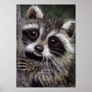 Vrienden? Het Poster van de wasbeer