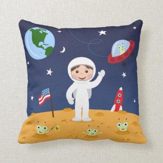 Vrienden in het ruimte, leuke kinder hoofdkussen sierkussen