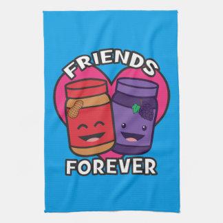 Vrienden voor altijd - Pindakaas en Gelei Kawaii Theedoek