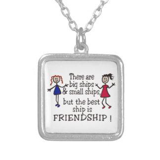 Vriendschap Ketting Vierkant Hangertje