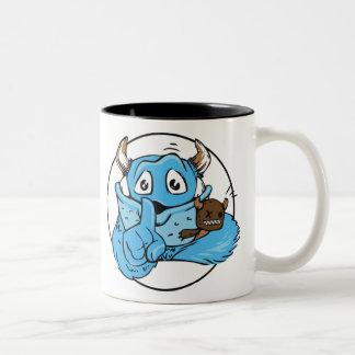 Vriendschappelijk doen zwijg Monster Tweekleurige Koffiemok