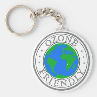 Vriendschappelijk ozon basic ronde button sleutelhanger