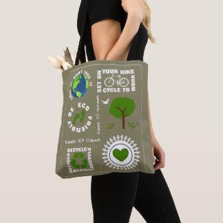 Vriendschappelijke Eco gaat de Groene Aarde Themed Draagtas
