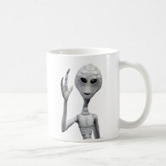 Vriendschappelijke Grijze Vreemdeling Koffiemok
