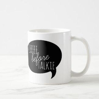 Vriendschappelijke Mokken: Koffie vóór Talkie Koffiemok