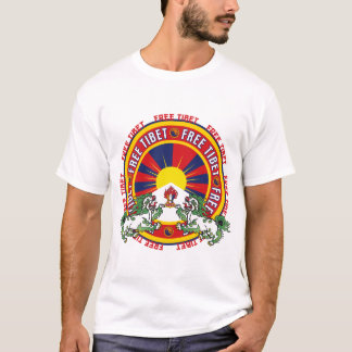 Vrij Tibet om Logo T Shirt