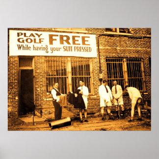 Vrije het Golf van het spel (terwijl het Hebben Poster