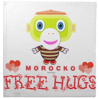 Vrije omhelzing-Leuke aap-Morocko Katoenen Servet