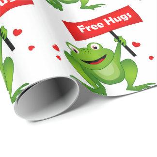 vrije omhelzingen leuke kikker cadeaupapier