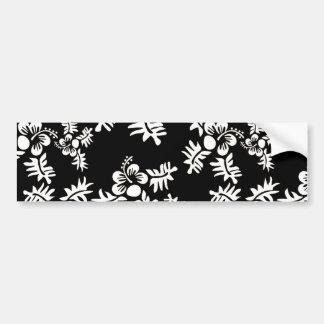 Vrije Vector Naadloze Bloem Pattern3 zwart wit h Bumpersticker