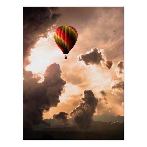Vrije vlieg Mijn Ballon van de Hete Lucht - de Uit Wenskaart