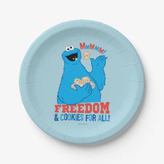 Vrijheid & Koekjes voor allen! Papieren Bordje