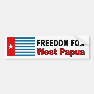 Vrijheid voor West-Papoea Bumpersticker