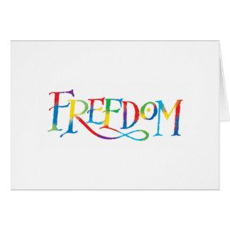Vrijheid Wenskaart