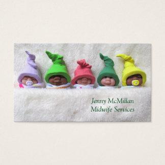 Vroedvrouw, de Dienst Doula: De Babys van de klei, Visitekaartjes