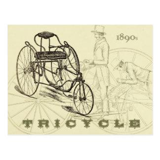 Vroege Driewieler 1890s Briefkaart