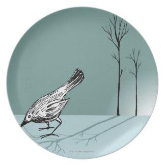 Vroege vogel melamine+bord