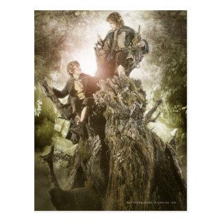Vrolijk en Peregrin op Treebeard Briefkaart