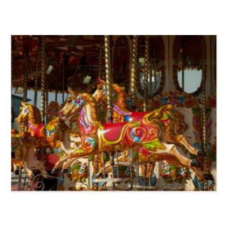 Vrolijk-gaan-rond Paarden Briefkaart