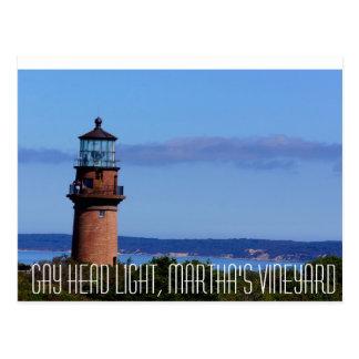 Vrolijk Hoofd Licht Martha's Vineyard Briefkaart