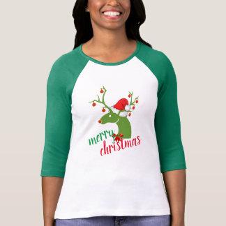 Vrolijk van het de decoratieRendier van Kerstmis T Shirt