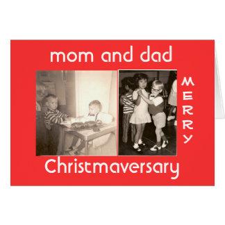 Vrolijke Christmaversary Briefkaarten 0