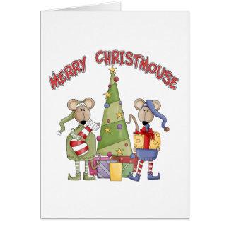 Vrolijke Christmouse Briefkaarten 0