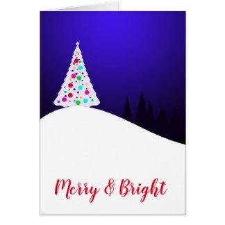 Vrolijke & Heldere Kerstkaart Kaart