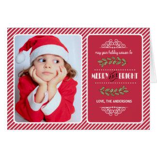 Vrolijke & Heldere Kerstmis aan u. De Kaart van de