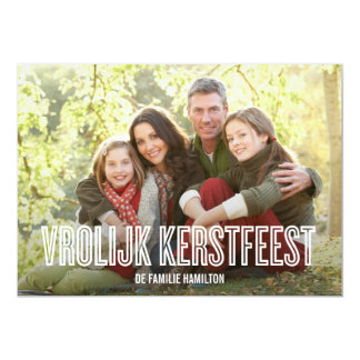 vrolijke kerst vakantie fotokaarten gepersonaliseerde uitnodigingen