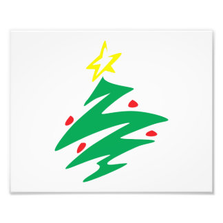 Vrolijke Kerstboom met de Uitnodiging van de Ster Fotoprints
