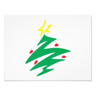 Vrolijke Kerstboom met de Uitnodiging van de Ster Foto Afdrukken