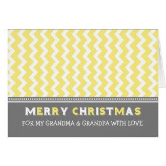 Vrolijke Kerstkaart van de Grootouders van de Kaart