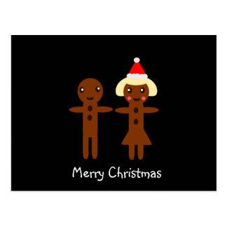 Vrolijke Kerstmis 2 van het Man en van het Meisje Briefkaart