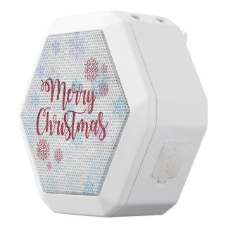 Vrolijke Kerstmis 2 Witte Bluetooth Speaker