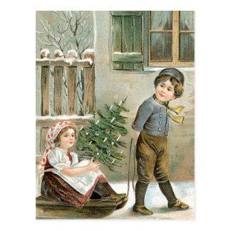Vrolijke Kerstmis aan u! Briefkaart