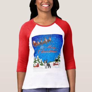 Vrolijke Kerstmis Boston Terrier T Shirt