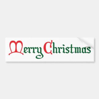 Vrolijke Kerstmis Bumpersticker