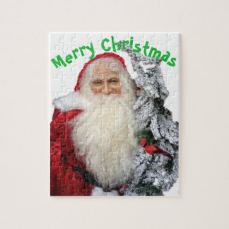 Vrolijke Kerstmis de Kerstman Legpuzzel