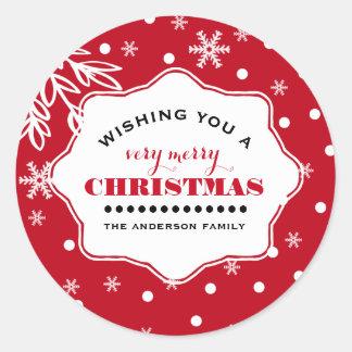 Vrolijke Kerstmis. De Stickers van Kerstmis van de