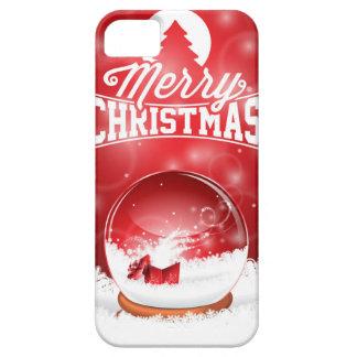 Vrolijke Kerstmis en de Gelukkige typografie van Barely There iPhone 5 Hoesje