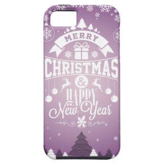 Vrolijke Kerstmis en de Gelukkige typografie van Tough iPhone 5 Hoesje
