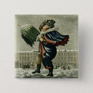 Vrolijke Kerstmis en een Gelukkig Nieuwjaar in Vierkante Button 5,1 Cm
