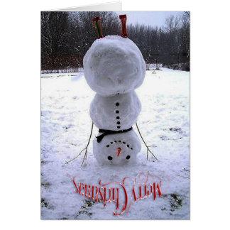 Vrolijke Kerstmis & Gelukkige Nieuwjaarskaart Kaart