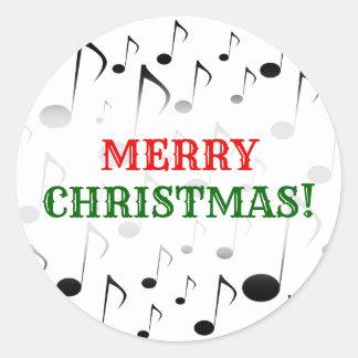 """""""Vrolijke Kerstmis!"""" + Het Patroon van vele Ronde Sticker"""