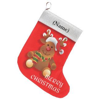 Vrolijke Kerstmis het rode neusrendier, Grote Kerstsok