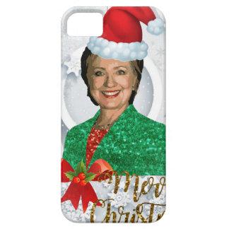 vrolijke Kerstmis Hillary clinton Barely There iPhone 5 Hoesje