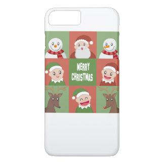 vrolijke Kerstmis iPhone 8/7 Plus Hoesje